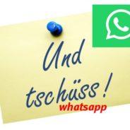 Whatsapp – die erste Woche ohne
